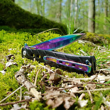 Taschenmesser Messer Outdoor Klappmesser Einhandmesser Angeln Camping Rainbow