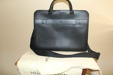 Louis Vuitton Men's Black Epi Leather Porte Documents Business Bag
