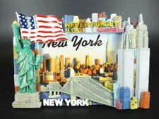New York Picture Frame Statue of Liberty, Wtc Old, Empire, Chrysler, 8 11/16in