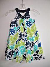 GYMBOREE TAHITIAN BUTTERFLY GIRLS GEM BUTTERFLY PRINT GAUZE  DRESS (B21) SZ 6