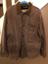 Vintage Chevignon Brown Genuine Leather Mens Jacket Size Medium Sport Togs