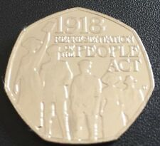 2018 - 50p Coin Representation of The People Act 1918