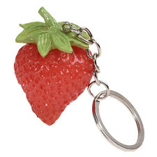 New Simulation Strawberry Cell Phone Charm Bag Strap Keychain Pendant Decor New#