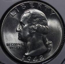 1948-S Washington Silver Quarter GEM BU+ AWSOME LUSTER ! 48S02