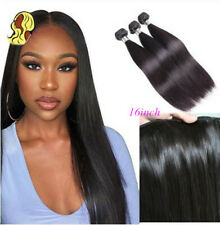 Straight Human Hair Weft Brazilian Hair Weave 3 Bundles Natural Color Remy Hair