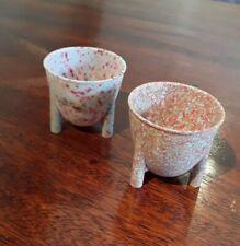 Vintage Bakelite Egg Cups set of 2 good condition