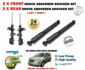 FOR CHRYSLER GRAND VOYAGER RT 2007->NEW 2X FRONT AND 2X REAR SHOCK ABSORBER SET