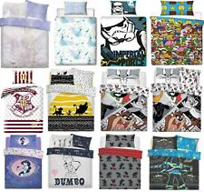 Kids Childrens Duvet Cover  Single & Double Set Bed Bedding Disney Character