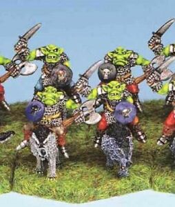 15mm Ral Partha ORC WOLF RIDERS (5) Demonworld Blighthaven 4006A UNPAINTED R