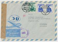 ÖSTERREICH 1951 FLUGPOST-BRIEF, ZENSURIERT! WIEN nach SCHWEDEN. (Göteborg)