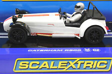 SCALEXTRIC C3093 CATERHAM 7 R500 NEW 1/32 SLOT CAR IN DISPLAY CASE