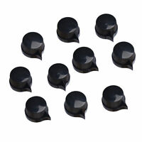 "10pc Black Guitar Effects Pedal Pointer Small Chicken Head Knob 1/4"" Shaft Screw"