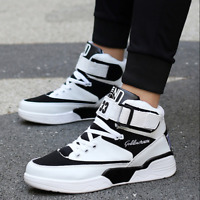 Mens High Top Sport Board Shoes Lace Up  Casual Trainer Sneakers Athletic