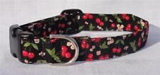 Black Cherries Cherry Blossom Cat Dog Pet Collar CUSTOM MADE Adjustable CUTE!