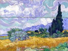 Art Van Gogh Landscape Vivid Mural Ceramic Backsplash Tile #2308