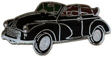 Morris Minor Convertible car cut out lapel pin  - Black body