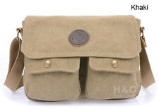 Men's Vintage Military Canvas Purse School Satchel Shoulder Messenger Bag Small