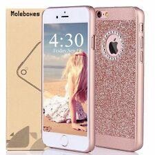 For iPhone 7+ Plus 5s 6+ Thin Bling Glitter Crystal Hard Back Phone Case Cover
