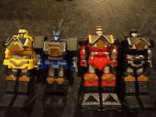 Mighty Morphin Power Rangers Shogun Megazord. Red, Blue, Black, Yellow Zords