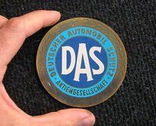 DAS DEUTSCHER AUTO SCHUTZ STICKER DECAL VW COX MB 190 300 SL NOS