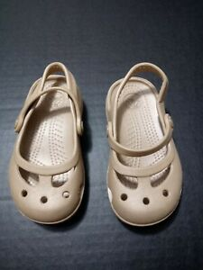 CROCS Toddler Girl Mary Jane Charm  Size 7C