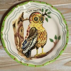 Nathalie Lete X Anthropologie Owl Deep plate about 25cm New Unused from Japan