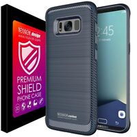 Samsung S8+ Plus Cover Case Carbon Shockproof Frosted Design Silicone Noziroh 3D