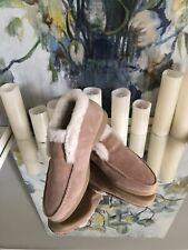Suede & Real fur Chestnut Beige   mid-calf boots size 9 , med