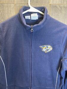 Nashville Predators Women's Zipper Fleece Coat Jacket Official NHL Majestic S