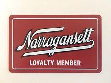 Narragansett Beer Loyalty Member Card Rhode Island
