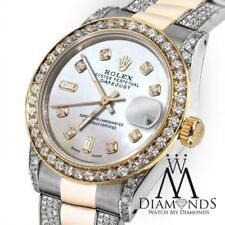 Diamond Ladies Rolex Datejust 26mm 2 Tone 18K Gold & Steel diamond Oyster Watch