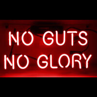 "14""x7""NO GUTS NO GLORY Neon Sign Light Beer Bar Pub Wall Decor Game Room Hanging"