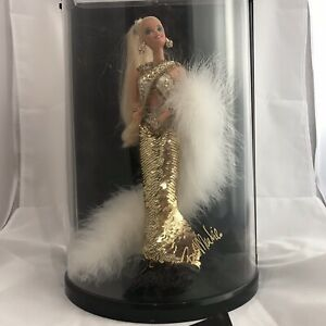 1990 Bob Mackie Gold Barbie in Display Case