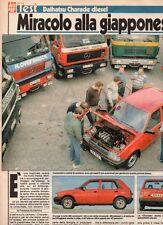 SP55 Clipping-Ritaglio 1987 Test Daihatsu Charade diesel Miracolo alla..