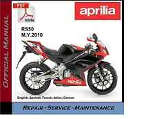 Aprilia RS50 2010 onwards RS 50 Workshop Service Repair Manual