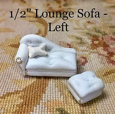 """Pat Tyler Dollhouse Miniature 1/2"""" One Half Inch Lounge Sofa Couch-Ottoman p103"""