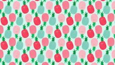 Fabric 100% cotton, Makower UK. Fruity Friends Pineapples Blue  1941/B