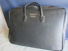 Vintage SONY Cassette Stereo Zipper Black Briefcase Carrying Case + Insert Japan