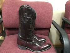 SHEPLERS Black Cherry Leather Western Boots Men's Size 12 D