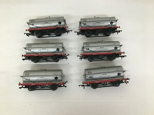 """Hornby R6208 20T """"ICI"""" TANKERS Lovely Rake of 6 WAGONS All different numbers OO"""