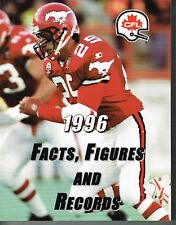1996 CFL Canadian Football League Facts, Figures & Records GUIDE