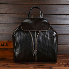 Genuine Leather Women Backpack Drawstring School Book Bags Daily Bag Travel Bags