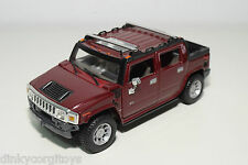MAISTO HUMMER H2 METALLIC MAROON NEAR MINT CONDITION