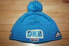 DSV Adidas DKB Mütze Gr. L 58 Skimütze Bommelmütze Wintermütze Strickmütze Blau