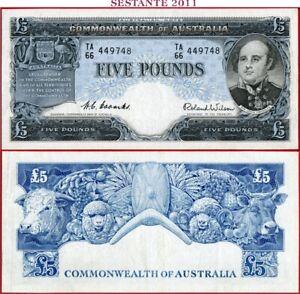 (com) AUSTRALIA  - 5 POUNDS COMMONWEALTH nd 1954 / 1959 -  P 31   -  XF