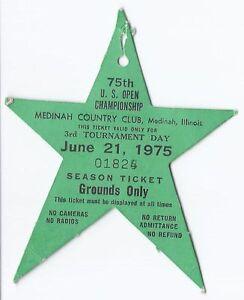 1975 US Open Championship Ticket Stub 3rd Tournament Round 6 21 75 Lou Graham