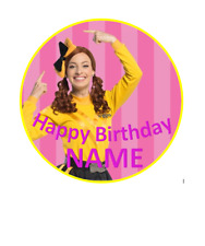 Emma Wiggle personalised edible Image cake topper 19cm #41