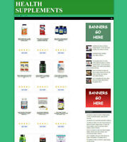 VITAMINS & MINERALS AFFILIATE STORE WEBSITE BUSINESS + FREE DOMAIN & HOSTING
