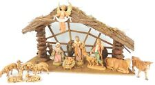 Vintage Fontanini Nativity Creche Stable Set Figurines Depose Italy Retired 5""