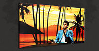 ICONIC FILM SCARFACE TONY MONTANA SUNSET BOX CANVAS PRINT WALL ART PICTURE